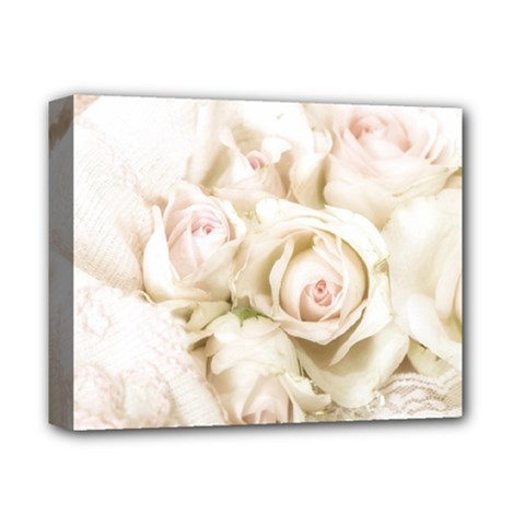 Pastel Roses Antique Vintage Deluxe Canvas 14  X 11