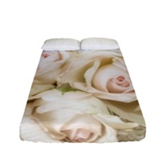 Pastel Roses Antique Vintage Fitted Sheet (full/ Double Size)