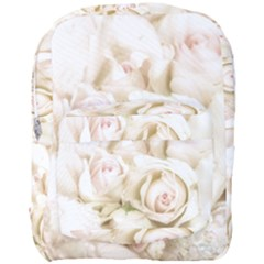 Pastel Roses Antique Vintage Full Print Backpack by Nexatart