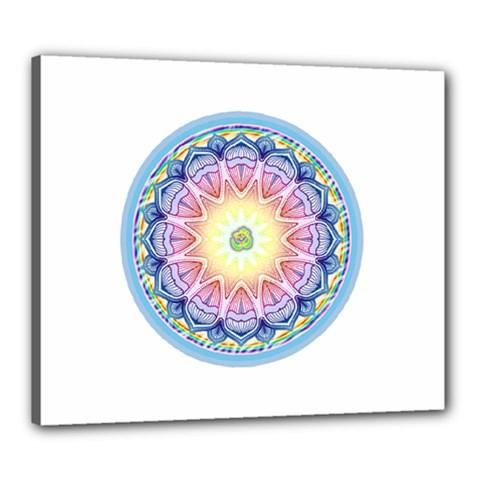 Mandala Universe Energy Om Canvas 24  X 20  by Nexatart