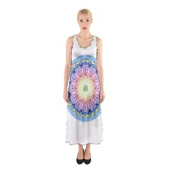 Mandala Universe Energy Om Sleeveless Maxi Dress