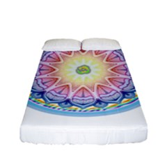 Mandala Universe Energy Om Fitted Sheet (full/ Double Size)