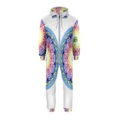 Mandala Universe Energy Om Hooded Jumpsuit (kids) by Nexatart