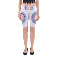 Mandala Universe Energy Om Yoga Cropped Leggings