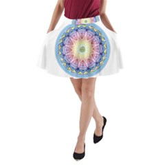 Mandala Universe Energy Om A Line Pocket Skirt