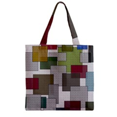 Decor Painting Design Texture Zipper Grocery Tote Bag
