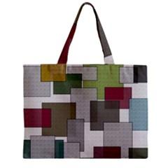 Decor Painting Design Texture Zipper Mini Tote Bag