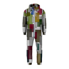 Decor Painting Design Texture Hooded Jumpsuit (kids)