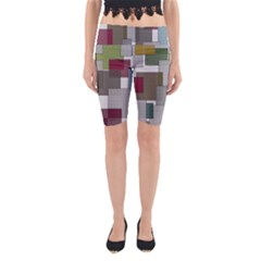 Decor Painting Design Texture Yoga Cropped Leggings