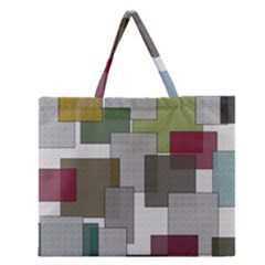 Decor Painting Design Texture Zipper Large Tote Bag by Nexatart