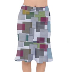 Decor Painting Design Texture Mermaid Skirt