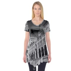 Architecture Parliament Landmark Short Sleeve Tunic  by Nexatart