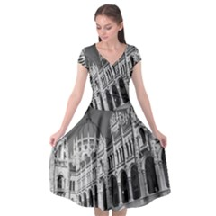 Architecture Parliament Landmark Cap Sleeve Wrap Front Dress by Nexatart