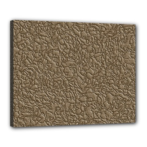 Leather Texture Brown Background Canvas 20  X 16