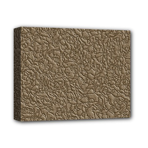 Leather Texture Brown Background Deluxe Canvas 14  X 11