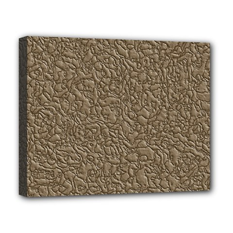 Leather Texture Brown Background Deluxe Canvas 20  X 16
