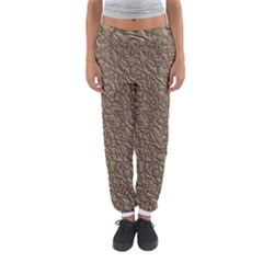 Leather Texture Brown Background Women s Jogger Sweatpants