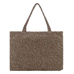 Leather Texture Brown Background Medium Tote Bag by Nexatart