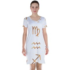 Signs Of The Zodiac Zodiac Aries Short Sleeve Nightdress