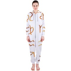 Signs Of The Zodiac Zodiac Aries Hooded Jumpsuit (ladies)
