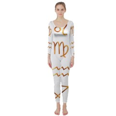 Signs Of The Zodiac Zodiac Aries Long Sleeve Catsuit