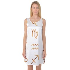 Signs Of The Zodiac Zodiac Aries Sleeveless Satin Nightdress by Nexatart