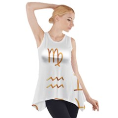 Signs Of The Zodiac Zodiac Aries Side Drop Tank Tunic