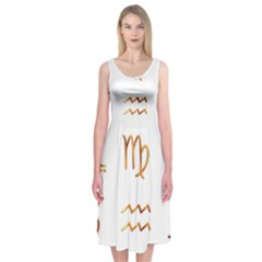 Signs Of The Zodiac Zodiac Aries Midi Sleeveless Dress