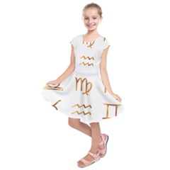 Signs Of The Zodiac Zodiac Aries Kids  Short Sleeve Dress