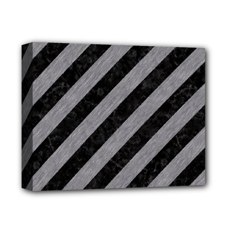 Stripes3 Black Marble & Gray Colored Pencil Deluxe Canvas 14  X 11