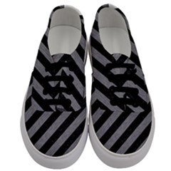 Stripes3 Black Marble & Gray Colored Pencil Men s Classic Low Top Sneakers