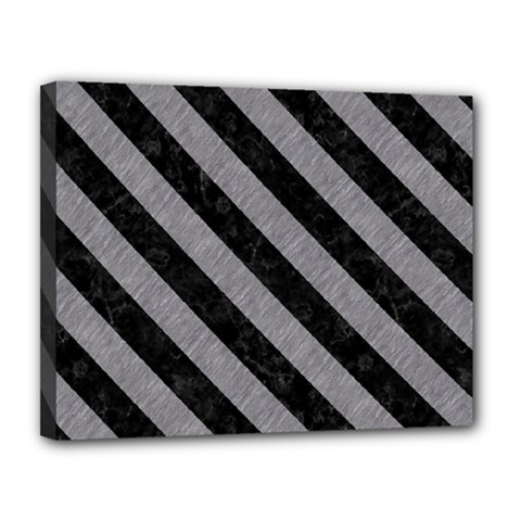 Stripes3 Black Marble & Gray Colored Pencil (r) Canvas 14  X 11  by trendistuff