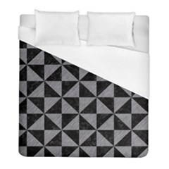 Triangle1 Black Marble & Gray Colored Pencil Duvet Cover (full/ Double Size)