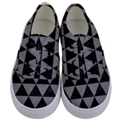 Triangle3 Black Marble & Gray Colored Pencil Kids  Classic Low Top Sneakers