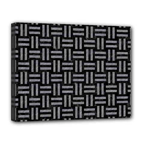 Woven1 Black Marble & Gray Colored Pencil Canvas 14  X 11  by trendistuff