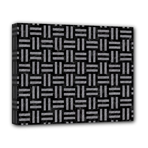 Woven1 Black Marble & Gray Colored Pencil Deluxe Canvas 20  X 16   by trendistuff