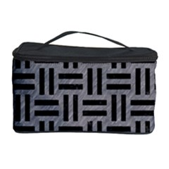 Woven1 Black Marble & Gray Colored Pencil (r) Cosmetic Storage Case