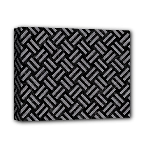 Woven2 Black Marble & Gray Colored Pencil Deluxe Canvas 14  X 11  by trendistuff