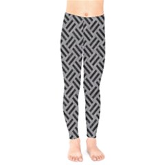 Woven2 Black Marble & Gray Colored Pencil (r) Kids  Legging