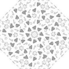 Ginger Cookies Christmas Pattern Folding Umbrellas by Valentinaart