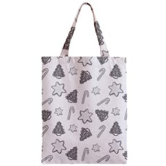 Ginger Cookies Christmas Pattern Zipper Classic Tote Bag by Valentinaart