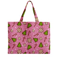 Ginger Cookies Christmas Pattern Zipper Mini Tote Bag by Valentinaart