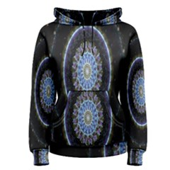 Colorful Hypnotic Circular Rings Space Women s Pullover Hoodie by Mariart