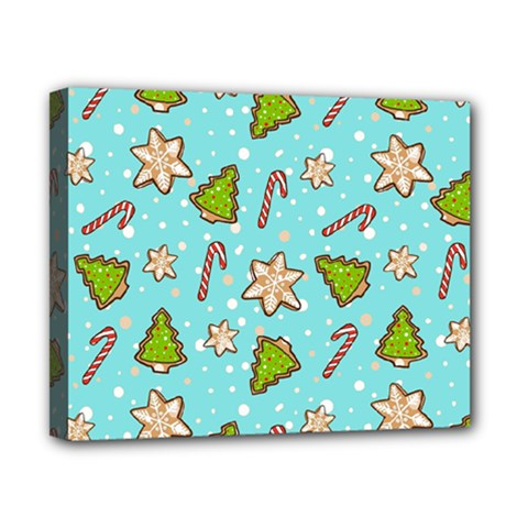 Ginger Cookies Christmas Pattern Canvas 10  X 8  by Valentinaart