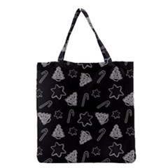 Ginger Cookies Christmas Pattern Grocery Tote Bag by Valentinaart
