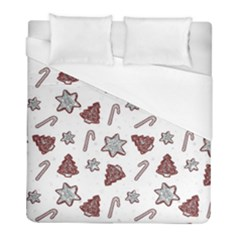 Ginger Cookies Christmas Pattern Duvet Cover (full/ Double Size) by Valentinaart