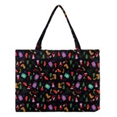 Christmas Pattern Medium Tote Bag by Valentinaart