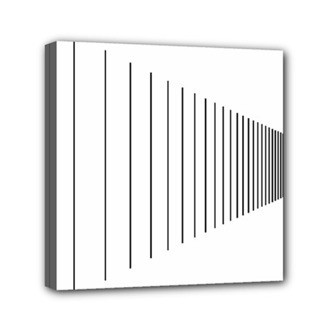 Fence Line Black Mini Canvas 6  X 6  by Mariart