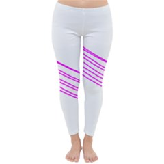 Electricty Power Pole Blue Pink Classic Winter Leggings by Mariart