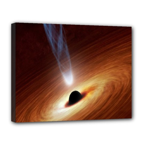 Coming Supermassive Black Hole Century Canvas 14  X 11  by Mariart